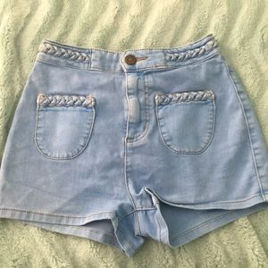 Urban Outfitters high waisted rope short shorts